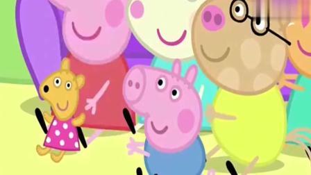 小猪佩奇: 猪爸爸为佩奇他们表演一个魔术, 超开心
