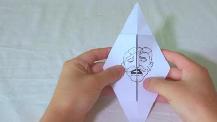教你用1张纸, 手工DIY表情包老头, 搞笑可爱可以玩出10种表情