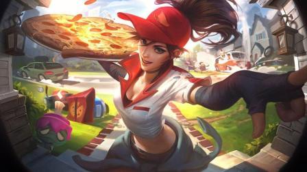 英雄联盟LOL 2018愚人节系列皮肤 送披萨的小姐姐 希维尔轮子妈 皮肤预览