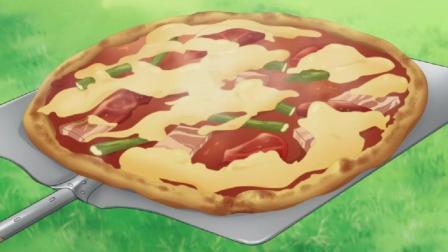 银之匙 烤披萨大会正式开始, 隔着屏幕都感觉好吃