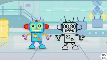 手绘简笔画, 我是一个机器人, 什么都难不倒我, 听儿歌学习简笔画!