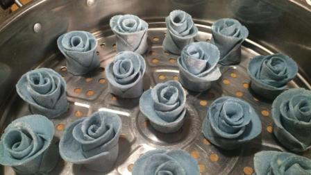 1碗面粉, 1颗紫甘蓝, 教你做比花还美的馒头, 好看又好吃