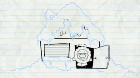 创意铅笔动画: 看见雪的南方人