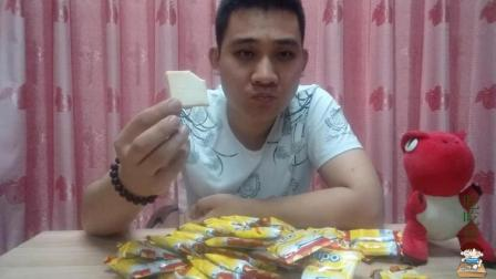 吃越南食品面包干, 压缩的只有豆腐块那么大, 喝杯水肚子会胀破吗