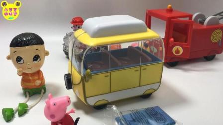 小猪佩佩开旅游车郊游趣味玩具