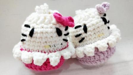 暖阳绒绒第14集kt猫装蛋袋的编织手工编织网