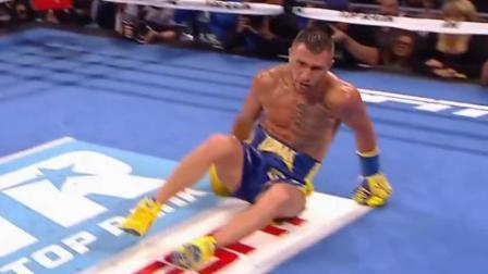 洛马琴科拳击生涯首次被击倒, 利纳雷斯的重拳真不是盖的