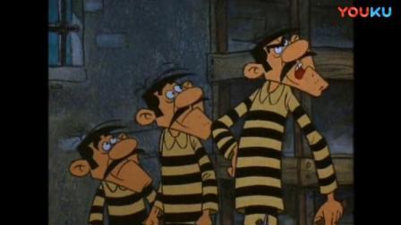 幸运卢克:笨贼想要挖地道,兄弟:四个人不应该挖四条吗?