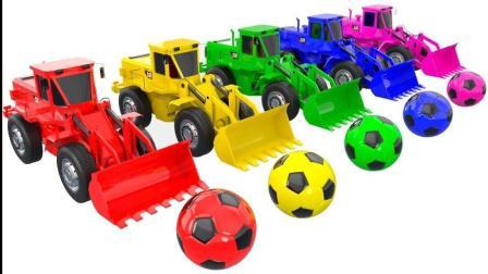 儿童学英语 颜色推土机卡车 形状街头车辆足球 惊喜教育视频 【 俊和他的玩具们 】