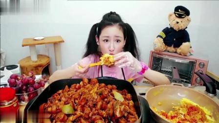 大胃王空姐安琪拉小猪佩奇装备全身, 吃15斤猪尾巴就是这么社会