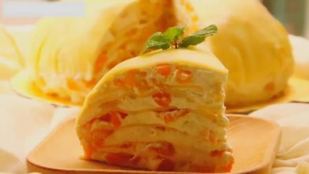 芒果千层蛋糕, 无需烤箱就能制作的蛋糕, 做法简单真的超级好吃