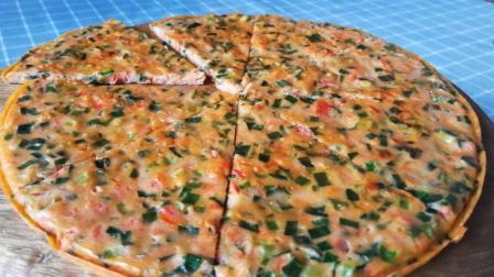 新吃法韭菜, 不炒不做馅, 中式披萨, 简单又营养