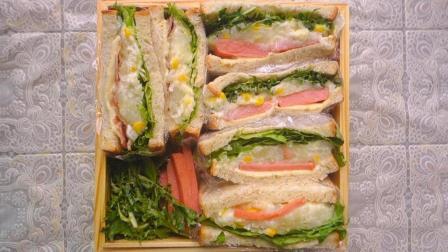野餐特辑一: 饱腹感超强的土豆沙拉三明治, 好看又好吃, 野餐桌上的明星食品