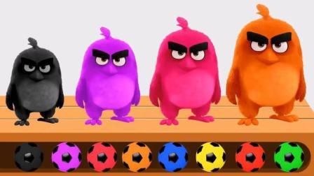 愤怒的小鸟很出名愤怒的小鸟足球玩具英语儿童英语ABC少儿英语ABC