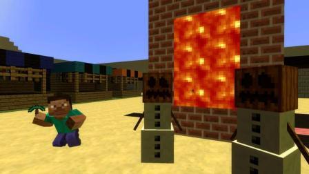 GMOD游戏雪人穿过熔浆传送门居然变成了熔浆雪人