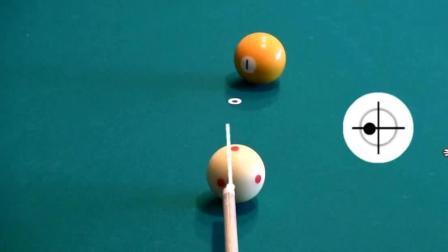 台球教学: 击打侧旋球的技巧, 看完这技巧打台球就不用愁了!
