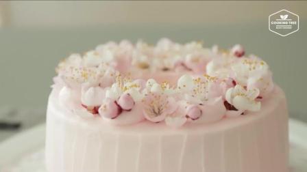 【COOKING TREE】超有少女心的樱花蛋糕制作过程
