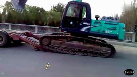 神钢挖掘机, 上拖车一气呵成