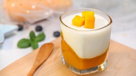免烤甜品芒果布丁杯, 香甜可口, 让你清凉度夏