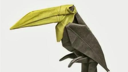 """创意手工DIY, 教你折纸""""托哥巨嘴鸟""""的方法"""