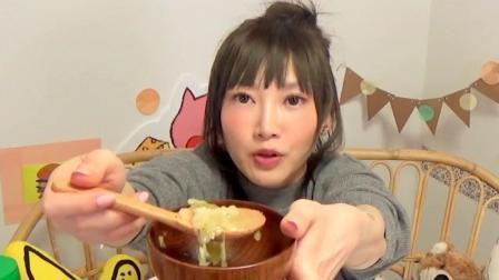 大胃王木下佑香, 教你自制香肠蔬菜培根法式火锅, 看着就很好吃