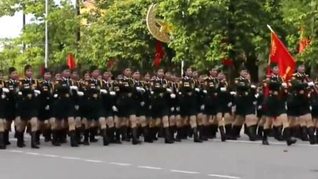 越南女兵正步, 和我们有可比性吗?