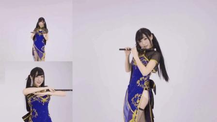 身材刚刚好系列, 萌系妹子跳中国风舞蹈, 双马尾辫超可爱