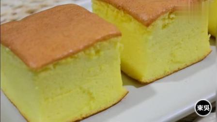 2分钟教你自制古早味蛋糕, 入口即化, 比棉花糖还软, 一看就会