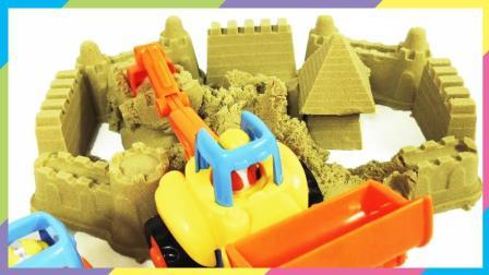 月采超Q食玩玩具 108工程车太空沙建造城堡施工现场 过家家玩具