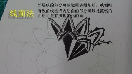 图案手绘装饰技法线面法