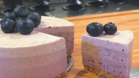 美味的免焗蓝莓芝士蛋糕