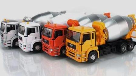 巨轮运货车 工程车 吊车 大铲车 水泥搅拌车 汽车总动员 大卡车货运视频