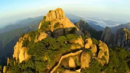安徽黄山: 航拍下的黄山, 还没去过的可以欣赏一下