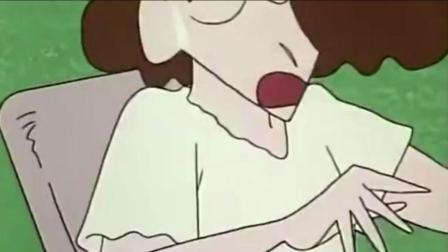 蜡笔小新: 美伢怀孕了, 小新带着小伙伴们来参观孕妇, 太逗了!