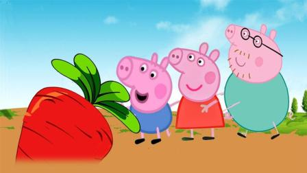 拔萝卜儿歌 小猪佩琦拔萝卜 粉红猪小妹