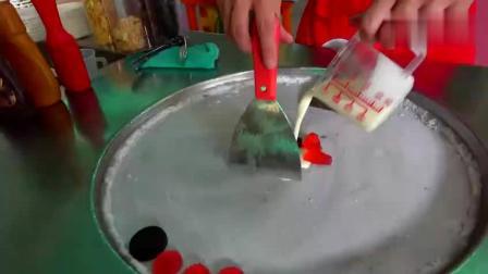 奥利奥果冻冰激凌, 真材实料, 最后铲成卷看的最舒服!