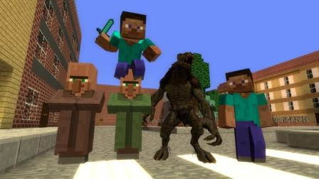 GMOD游戏救起溺水的史蒂夫突然变成狼人?