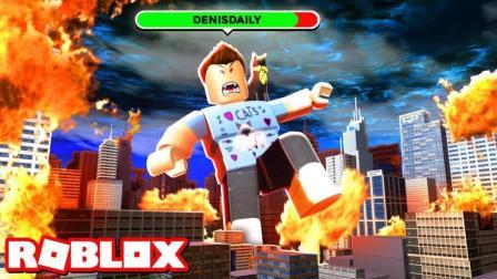 小格解说 Roblox巨人生存: 躲避进击逃生! 变身狂暴巨兽摧毁城镇! 乐高小游戏