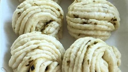 葱花卷浓浓葱油香, 好看又好吃, 手法简单实用, 开锅那刻口水直流