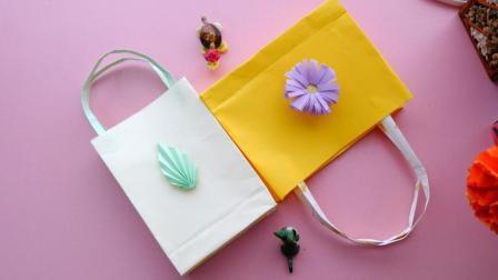 一种折法就能学会2款手提袋, 步骤很简单, 生活中很常用!