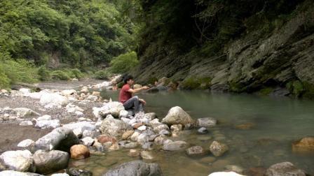 荒野垂钓溪流钓之游钓谭家河