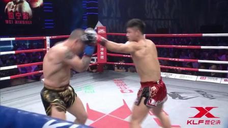 位宁辉的招牌爆肝拳有多猛 西班牙拳手被打得当场岔气