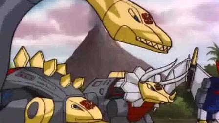 变形金刚: 机器恐龙大练兵! 钢锁很有头头的样子!