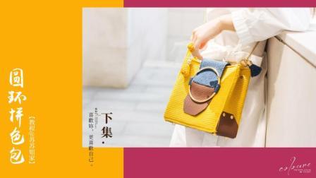 【A454_下集】苏苏姐家_圆环拼色包_教程编织方法视频