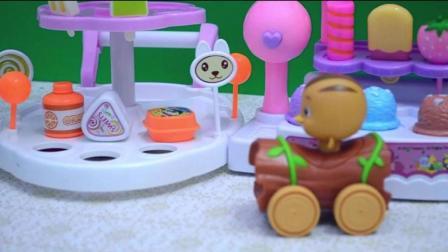 萌鸡小队多种口味冰淇淋机糖果机
