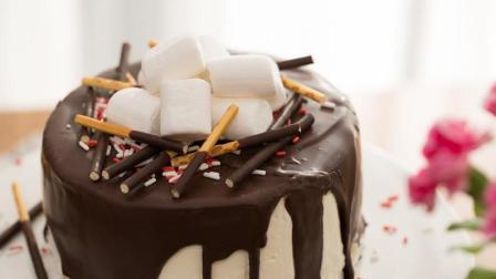 520来临在即, 做个黄桃奶油巧克力蛋糕送给TA