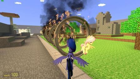 GMOD游戏小马驹能成功的钻过火圈吗