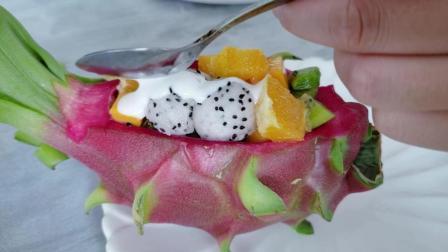 火龙果制作这样的水果拼盘, 你肯定没有吃过, 吃到流口水!