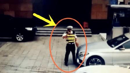 交警和车主发生冲突, 谁知可怕一幕还在后面