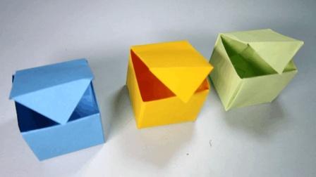 3分钟学会正方体盒子的折法 简单的礼品盒子折纸